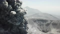 Incredible Aerial Footage Explosive Volcanic Eruption Lava And Ash