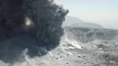 Incredible Aerial Footage Explosive Eruption Of Volcanic Ash And Lava