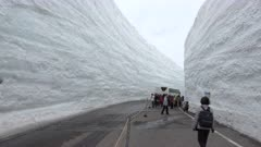 Immense Snow Canyon In Japan's Tateyama Mountains