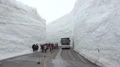 Incredible Snow Canyon Along Highway In Tateyama Japan