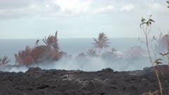 Kilauea Volcano Eruption 2018 - Lava Flow Devastation In Hawaii