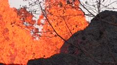 Kilauea Volcano Eruption 2018 - Lava Bursts From Flanks Of Volcano
