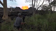 Kilauea Volcano Eruption 2018 - Scientist Watches Amazing Lava Fountain