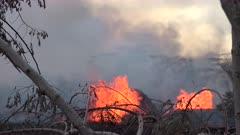 Kilauea Volcano Eruption 2018 - Erupting Fissures Spew Lava