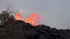 Kilauea Volcano Eruption 2018 - Lava Erupts From Cone