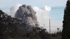 Kilauea Volcano Eruption 2018 - Ash Eruption From Summit Crater