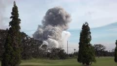 Kilauea Volcano Eruption 2018 - Cloud Of Ash Erupts From Summit