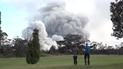 Kilauea Volcano Eruption 2018 - People Watch Ash Erupting From Crater