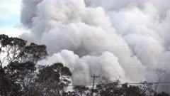 Kilauea Volcano Eruption 2018 - Cloud Of Ash Billows Into Sky