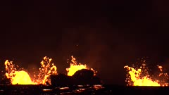 Kilauea Volcano Eruption 2018 - Lava Erupting Boiling At Night
