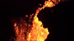 Kilauea Volcano Eruption 2018 - Close Up Churning Lava At Night