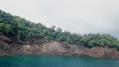 Krakatau Volcano Tsunami Aftermath - Aerial Footage Damage Huge Waves In Bay