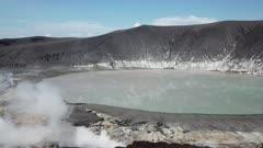 Krakatau Volcano Disaster - Aerial Footage New Crater Lake