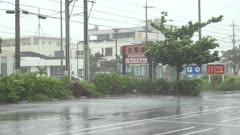 Strong Wind Lashes Town As Hurricane Nears Landfall