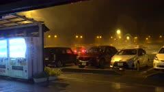 Hurricane Makes Landfall At Night Strong Wind And Heavy Rain