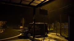 Hurricane Makes Landfall At Night Powerful Wind And Rain