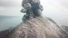 Incredible Aerial Footage Exploding Volcano And Cascading Lava Bombs