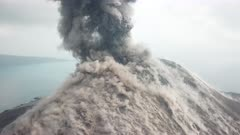 Incredible Aerial Footage Explosive Volcanic Eruption Close Up