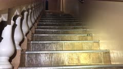 Water Pours Down Stairs As Major Hurricane Floods Hotel