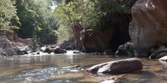 Wide shoot of the river Rio Vermelho in the state of Goias in Brazil