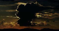 Majestic Desert Thunderhead, Thunderstorm, with Mountains and Sunset