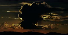 Majestic Desert Thunderhead, Thunderstorm,  over Sonoran Mountains and Sunset