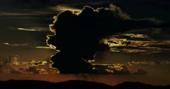 Majestic Thunderstorm over Sonoran Desert Mountains and Sunset