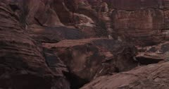 Petroglyphs and Rock Art panels at Petroglyph Canyon in the  Valley of Fire State Park in Nevada. (Motion Control TIME-LAPSE)