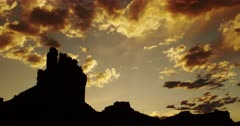 Scenic Sandstone Desert Buttes with Majestic Clearing Storm Clouds - Valley of the Gods