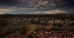 Storms clear with the brilliance of magic hour and dusk blankets the high desert in fading light