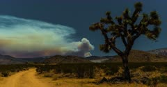 Apple Fire raging in Southern California from 50 miles distant on August 1, 2020