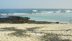 Hawaii Island Coast - Kailua Kona - Coconut Palm Shadow on Beach