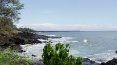 Maui Island Hawaii - Waves Crashing on Rocky Coast