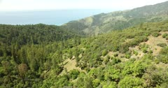 AERIAL, Central Coast California, Big Sur, Highlands