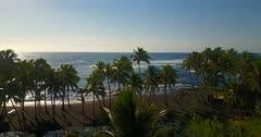 Aerial HAWAII, beach and ocean