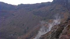 The crater of Vesuvius