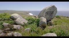 Point Reyes National Seashore, huge boulders frame coastline
