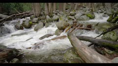 Creek, fast flowing water shot in 72fps