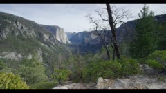 Time-lapse above Tunnel View, classic view, winter