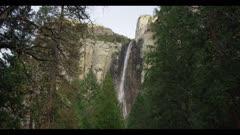Bridalveil Fall in winter, low water flow