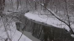 Snow-Covered Creek Bank