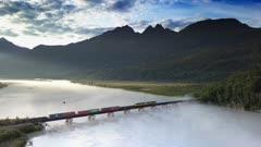Alaska Railroad Crossing River