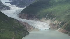 Aerial Views Of  Twin Lakes Glacier,  Juneau,  Alaska, Usa