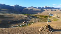 nomadic yurt camp in Altay mountains, 4k