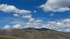 timelapse landscape with clouds moving over mountains - Altay Russia, 4k