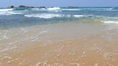 ocean waves on the beach 4k