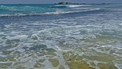 landscape with ocean waves 4k