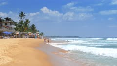 beach in Hikkaduwa - Sri Lanka 4k