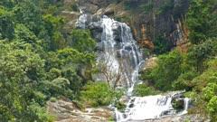 Waterfall Ella in Sri Lanka - 4k