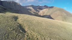 flight over the mountains - Altai, Russia, 4k